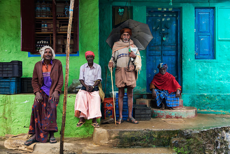 Portrait of Locals at Vattavada Village