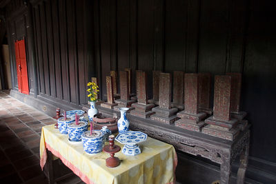 A table of offerings to ancestors