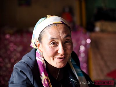 Kyrgyz woman portrait, China