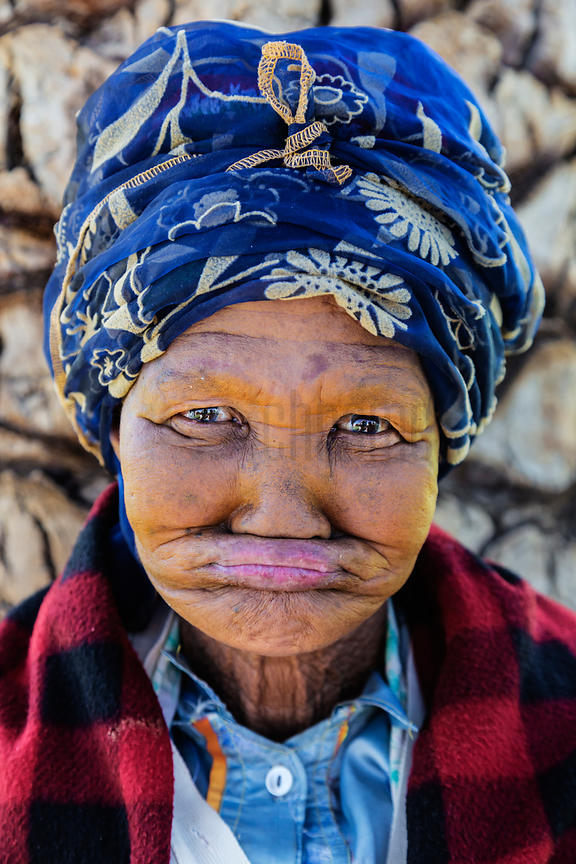 Portrait of a Nama Woman with no Teeth