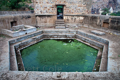 Filthy pool at the Monkey Temple in Galta, Rajasthan, India
