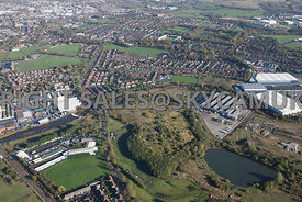 Bury aerial photograph of Bury  Point industrial estate Bury Road