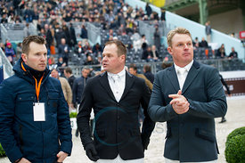 Paris, France, 18.3.2018, Sport, Reitsport, Saut Hermes - Grand Prix Hermès Bild zeigt Matt Williams, Billy Raymond, Jamie Ke...