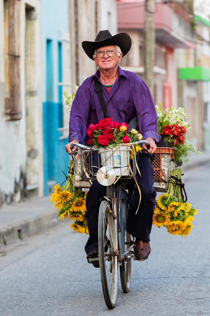 Flower Seller on the Streets of Camagüey