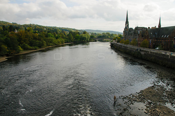 SCOTLAND Perth -- 29 Sep 2014 -- Fly fishing on the River Tay in Perth Scotland UK -- Picture by Jonathan Mitchell/Atlas Phot...