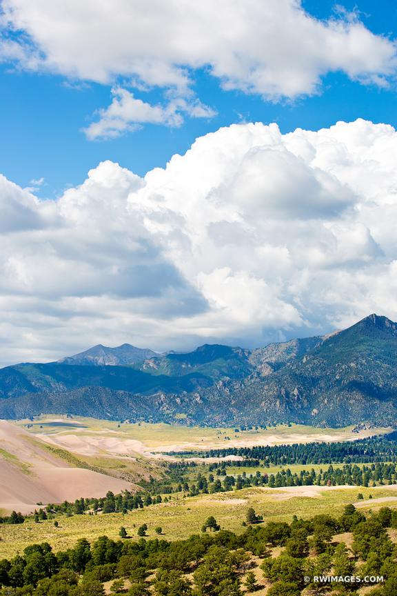 GREAT SAND DUNES NATIONAL PARK COLORADO COLOR VERTICAL