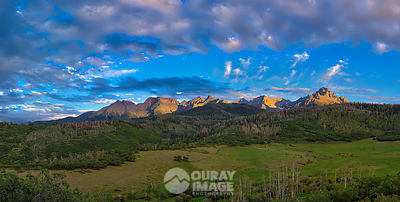 Summer Sunset Over the Sneffels Range