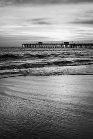 San Clemente Pier High Resolution Black and White Photo