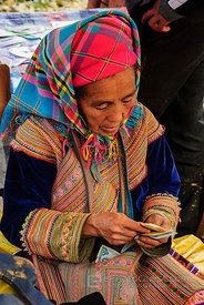 Flower Hmong Woman