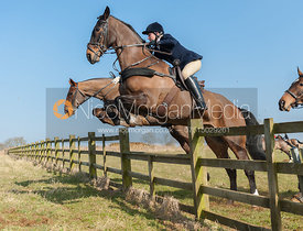 Jumping a hunt jump near the meet at Goadby Marwood