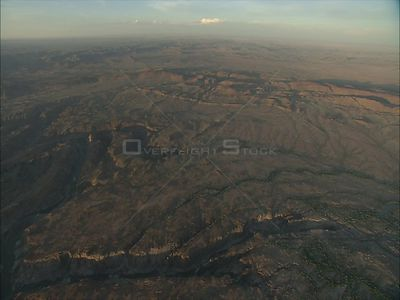 Aerial over hills, Augrabies Augrabies Falls Northern Cape South Africa