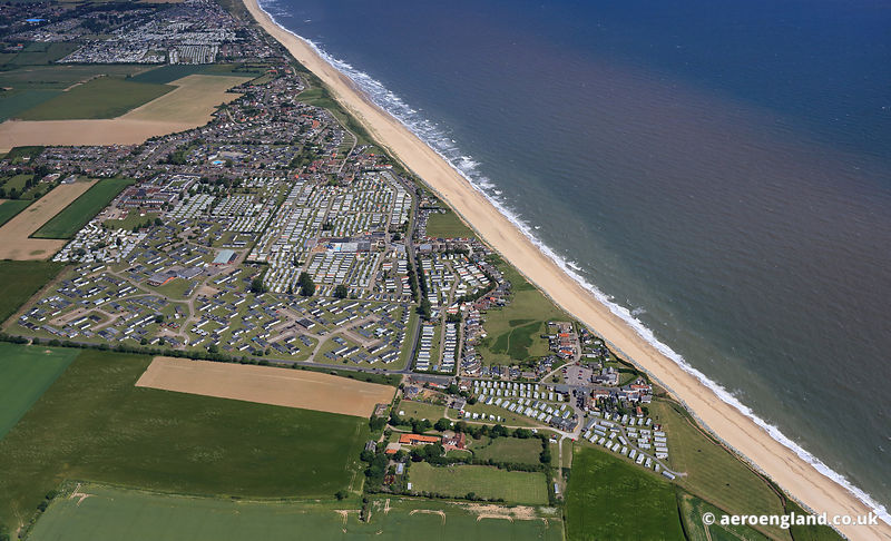 aerial photograph of Scratby Norfolk England UK