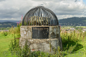 The Beheading Stone on Mote hill (Gowanhill), Stirling, Scotland.