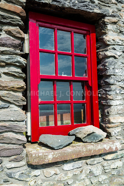 Famine Cottage Window, Dingle Peninsula, Ireland