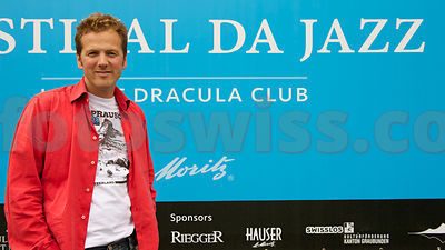 Christian Jott Jenny in front of the Dracula Club St.Moritz