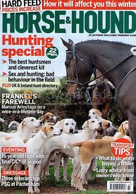 Horse & Hound cover photography, 25th October 2012
