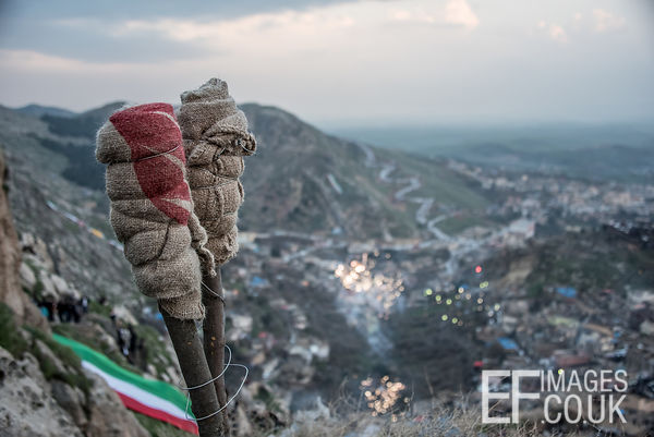 Newroz Torches waiting To Be Lit Above Akre