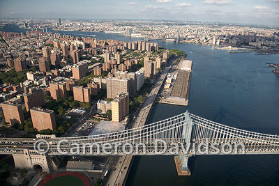 Manhattan (New York City) Aerial of Midtown Manhattan Bridge.