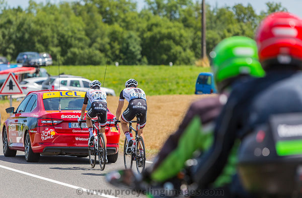 Two Cyclists - Tour de France 2017