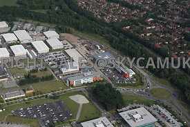 Warrington aerial photograph of new office developments Birchwood Park