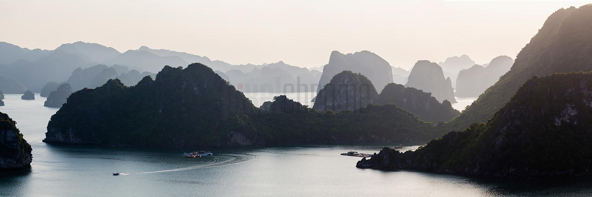 Elevated View over Halong Bay