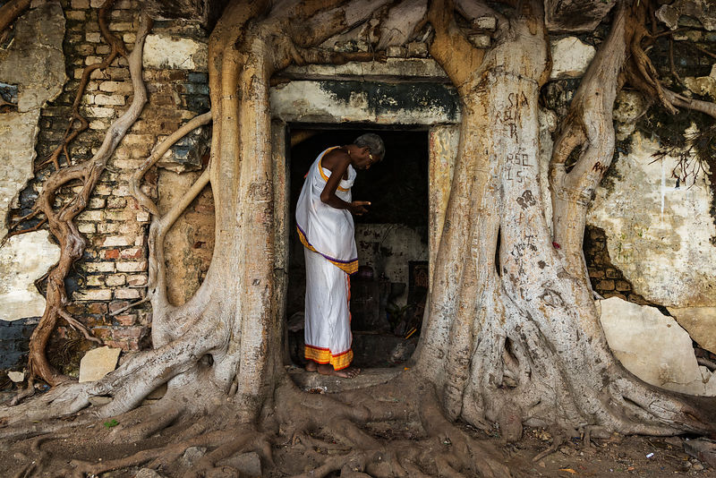 Pilgrim in the Doorway of a Small Temple