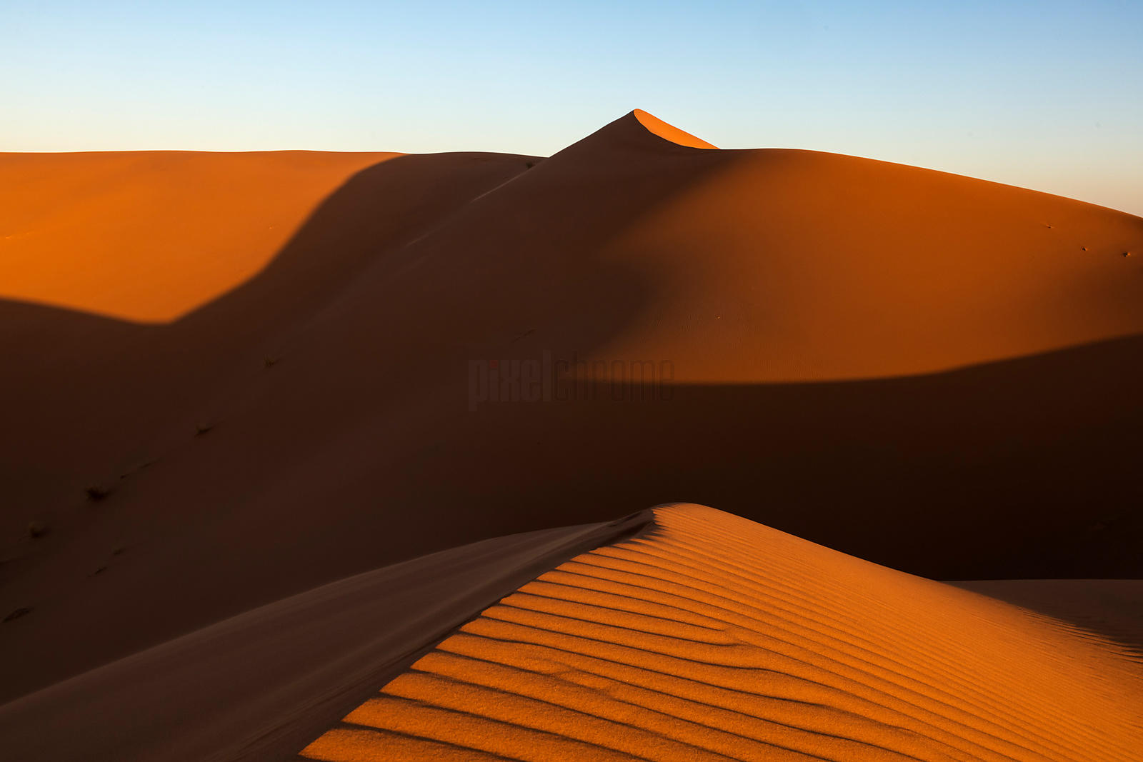 Erg Chebbi Sand Dunes at Sunrise