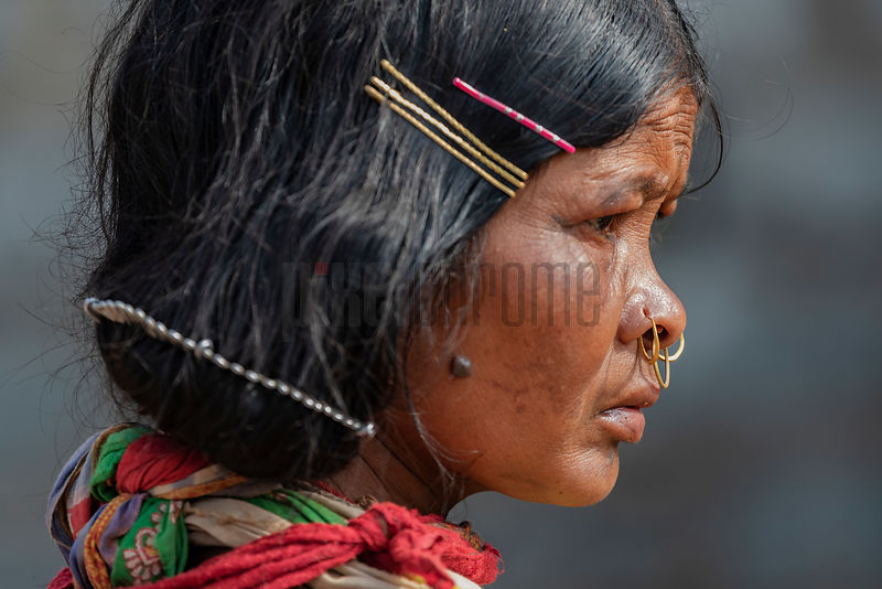 Portrait of a Woman from the Dongria Kondh Tribe