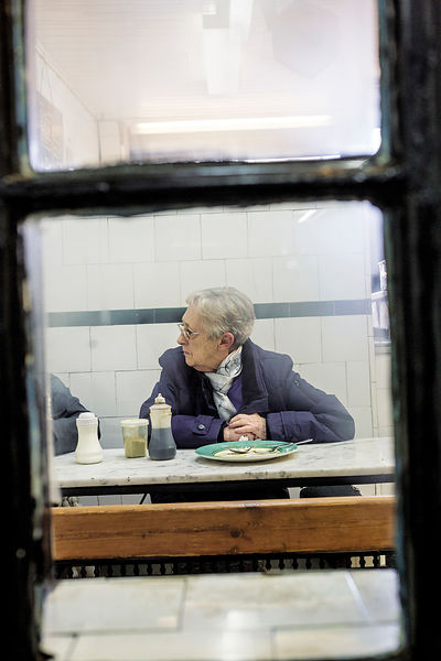 GF Kelly, Pie and Mash shop, Bethnal Green Road