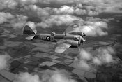 Bristol Blenheim in flight BW version