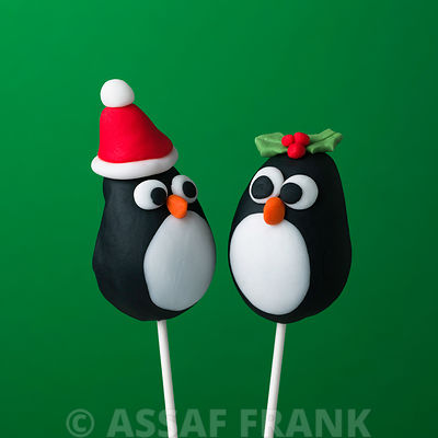 Christmas Popcake Penguins