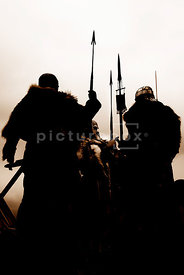 An atmospheric image of group of wealthy Vikings.