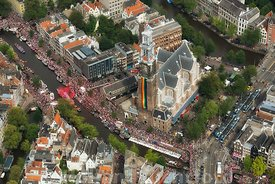 Amsterdam - Luchtfoto Canal Parade 11
