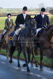 Fred Hopkinson and Robin Smith Ryland - Cottesmore Hunt at Deane Bank Farm 4/12/12