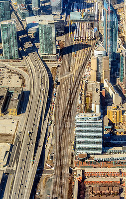 Downtown Core of the City of Toronto with the Gardiner Expressway