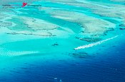 Aerial view of Malolo barrier reef, Mamanucas islands, Fiji