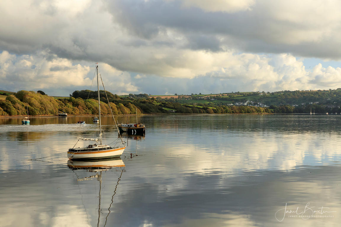 Boats on the River Teifi at Patch