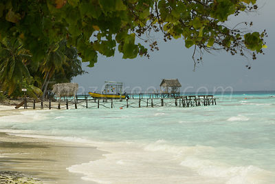 Fishermen huts on Fakarava atoll