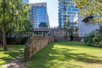 Ruins of Roman Wall- London, England