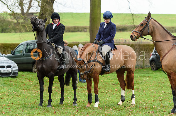 Joss Williams, Emilie Chandler At the meet at Goadby Marwood 11/1