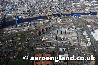 aerial photograph of Gateshead Tyne & Wear UK