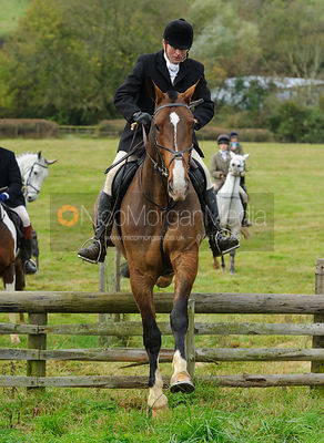 Howard Clark jumping a hunt jump - The Cottesmore Hunt at Somerby, 2-11-13