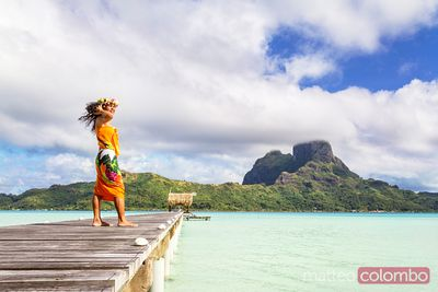 Local tahitian woman, Bora Bora, French Polynesia