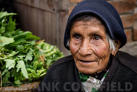 An elderly woman Bhaktapur.