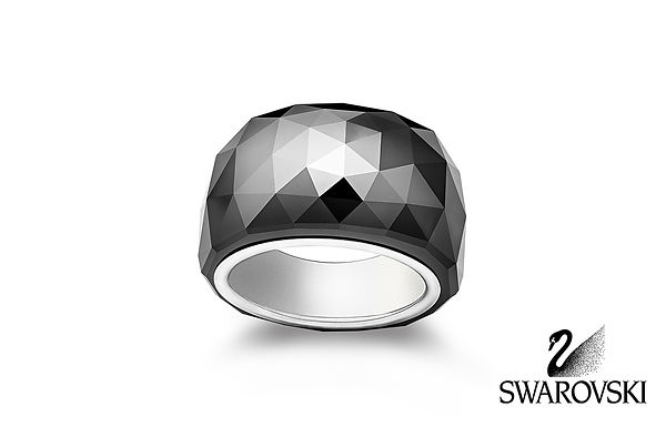Jewellery Photographer London Swarovski Nirvana Petite Jet Hematite Ring