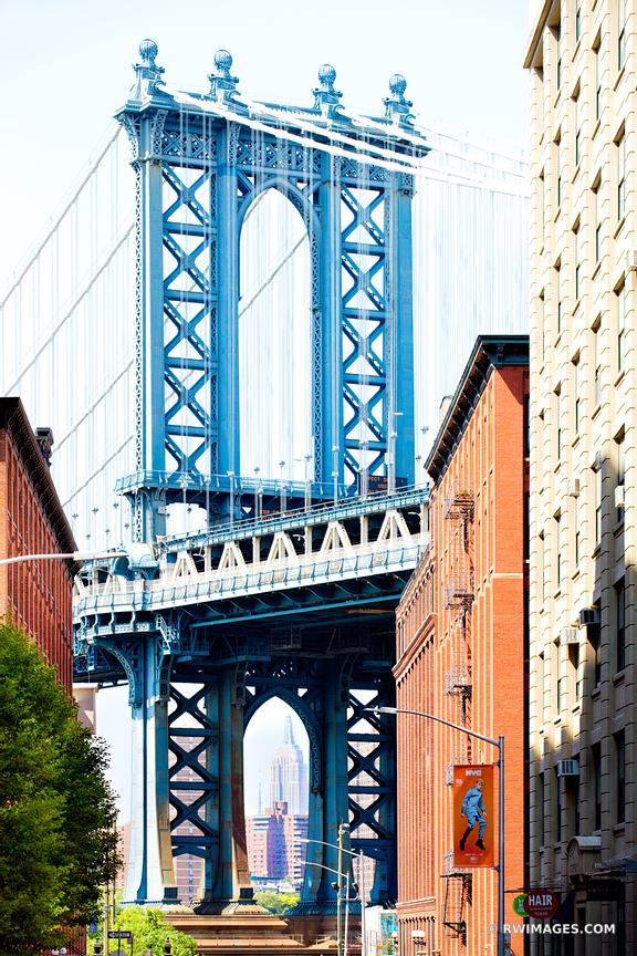 MANHATTAN BRIDGE DUMBO BROOKLYN NEW YORK COLOR VERTICAL
