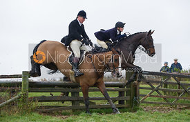 Michael Bell and Charlotte Knight jumping fences at Stone Lodge Farm - The Cottesmore at John O'Gaunt 24/11/12