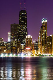 Night Skyline of Chicago