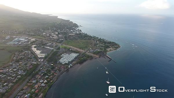 Lahaina West Maui Hawaii Drone Video