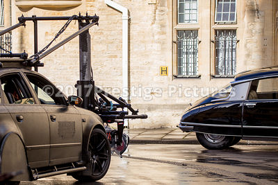 Camera car shooting a scene following a Citroen DS20 for Transformers 5